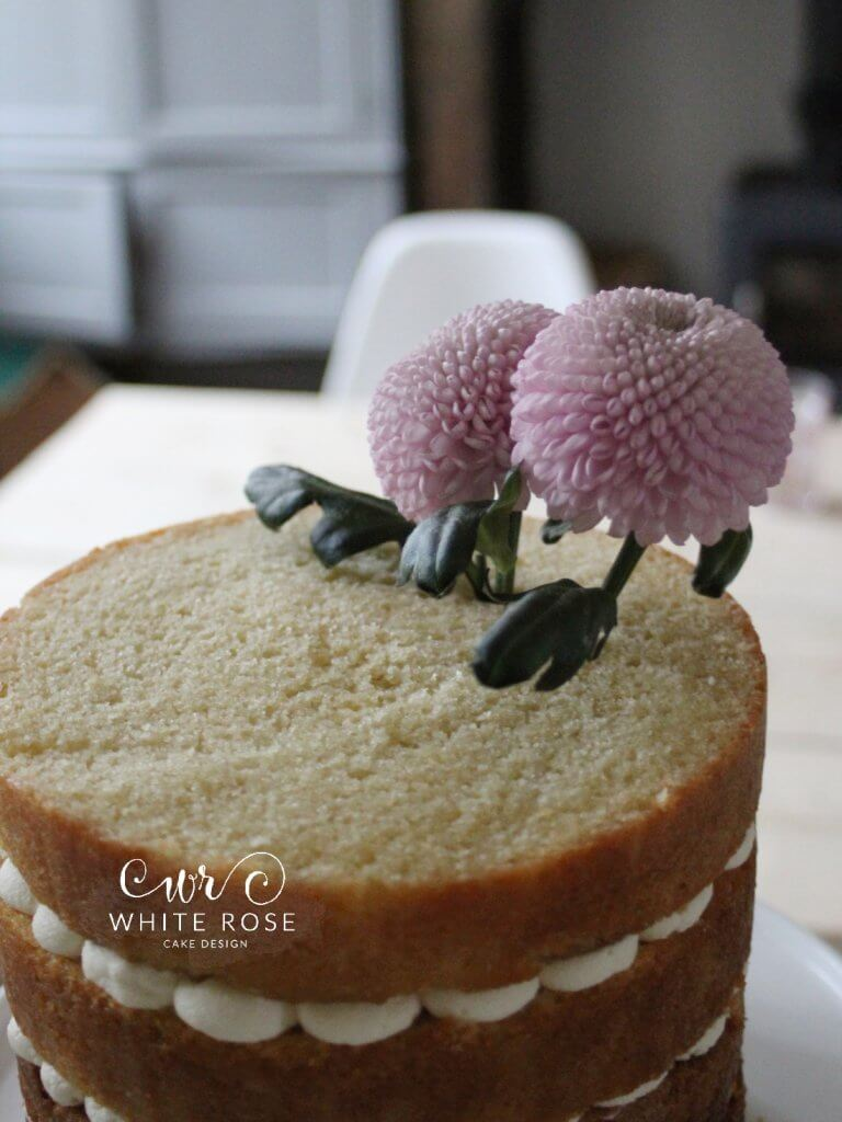 Perfect Mother's Day Cake Decorated with Fresh Flowers by White Rose Cake Design West Yorkshire Tutorial