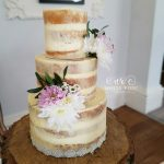 Three Tier semi-naked wedding cake by White Rose Cake Design, Wedding Cakes in West Yorkshire