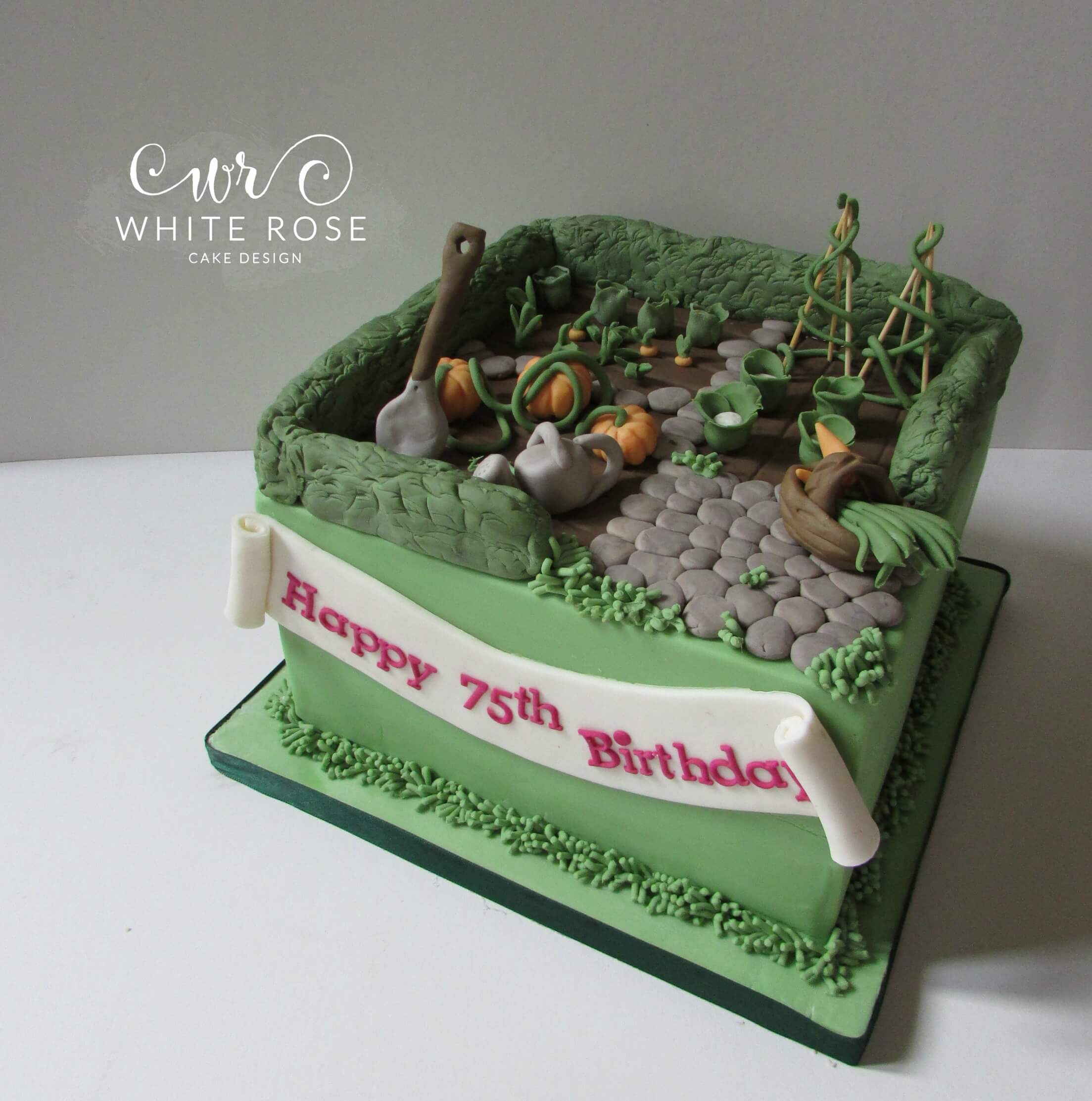 Allotment Garden Themed Birthday Cake 75th Huddersfield Maker2