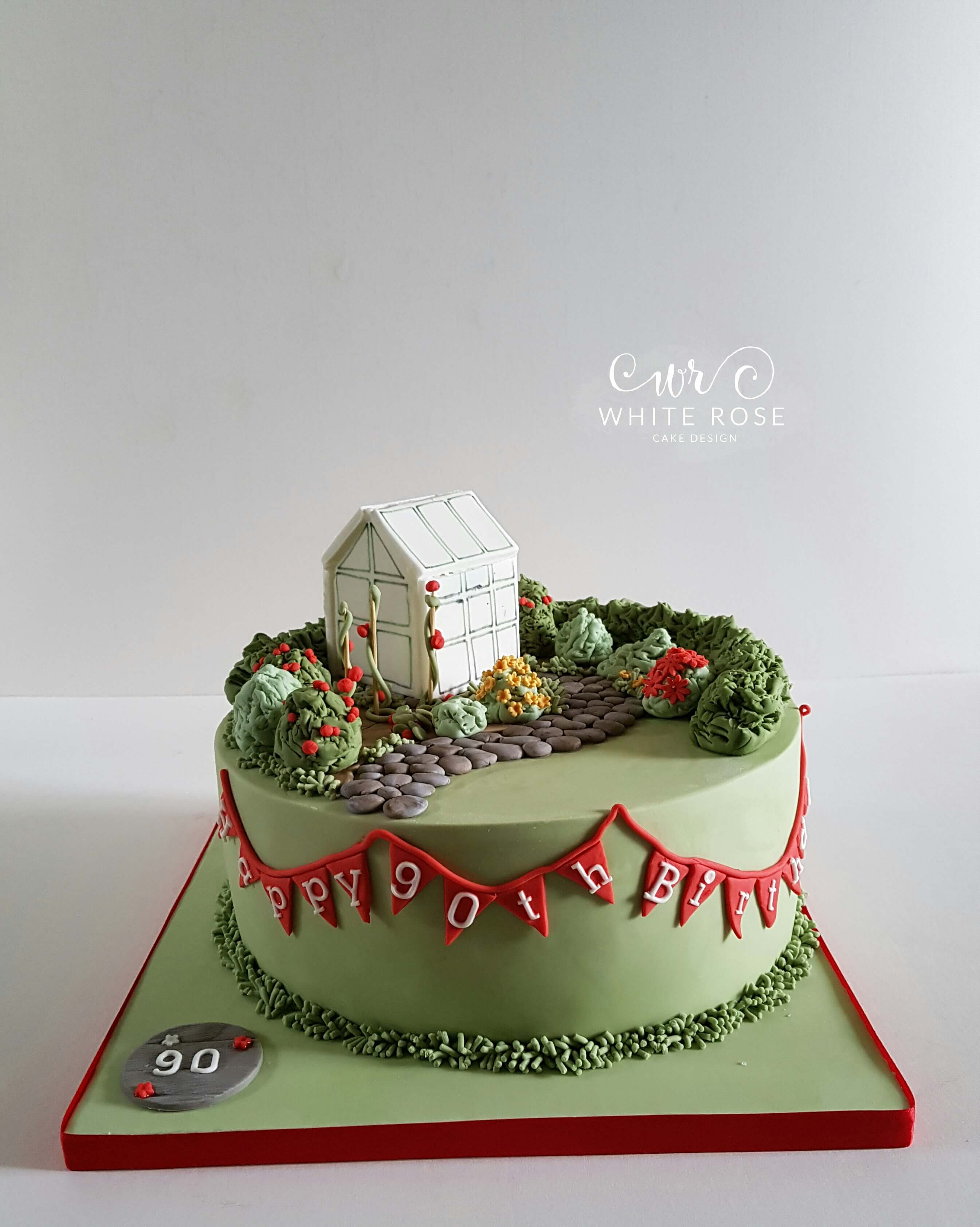 Gardening Themed 90th Birthday by White Rose Cake Design in West Yorkshire
