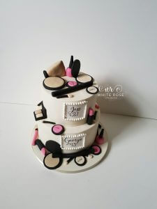 Make Up Themed Birthday Cake by White Rose Cake Design, Cake Maker in Huddersfield Holmfirth West Yorkshire