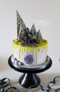 Toothless - How to Train Your Dragon 9th Birthday Cake by White Rose Cake Design Bespoke Birthday Cake Maker in West Yorkshire