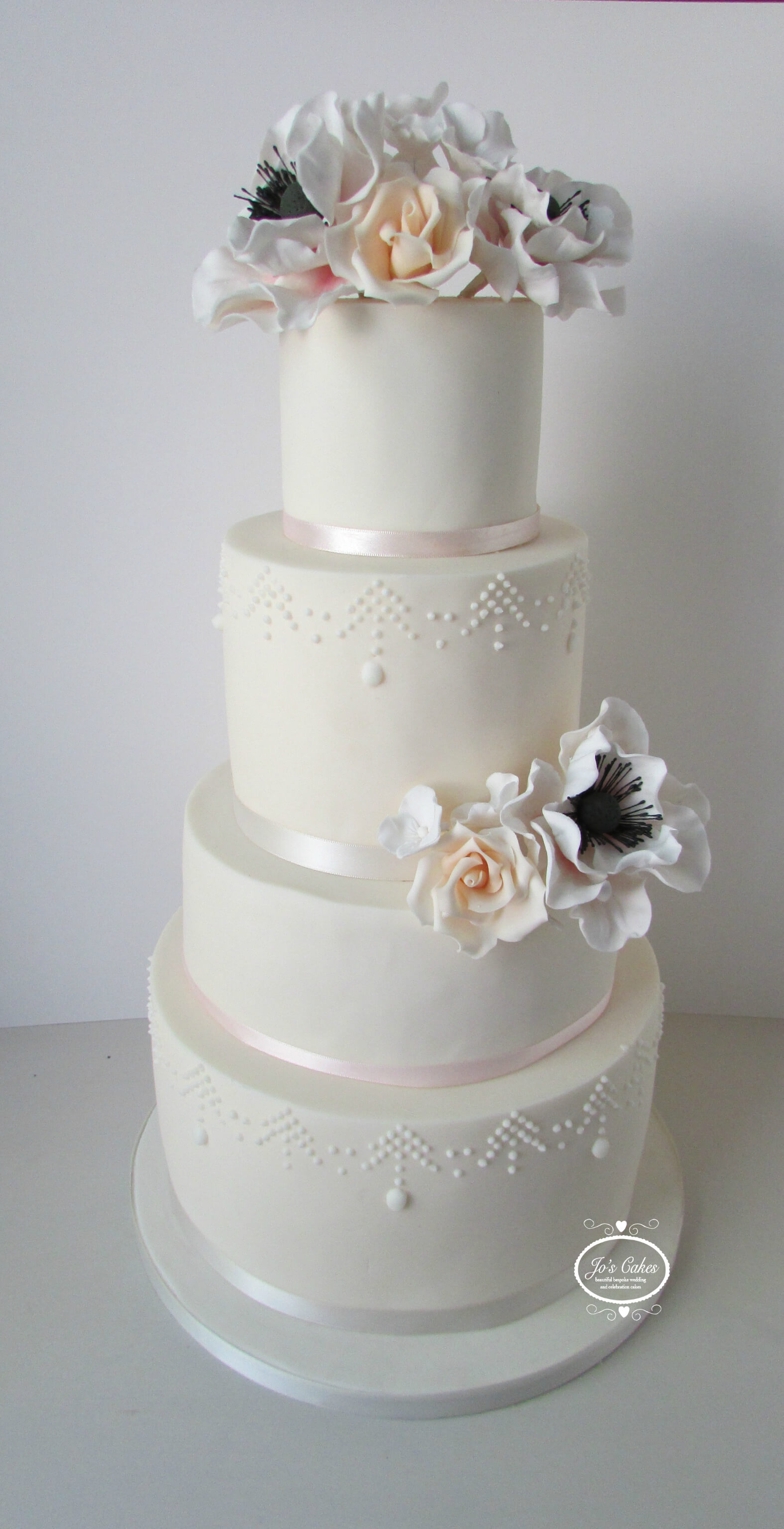 Two Tier Wedding Cake Purple