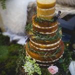 Naked Wedding Cake with Greenery by White Rose Cake Design, Wedding Cakes in West Yorkshire