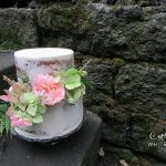 Semi Naked Wedding Cake with Autumnal Flowers by White Rose Cake Design, Wedding Cakes in West Yorkshire