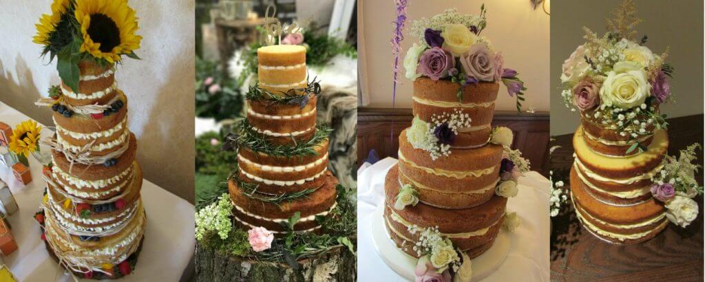 Naked Wedding Cakes in West Yorkshire by White Rose Cake Design Bespoke Cake Maker Wedding Cakes