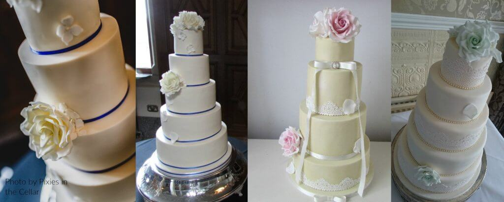 Elegant Wedding Cakes in West Yorkshire by White Rose Cake Design Bespoke Cake Maker Wedding Cakes