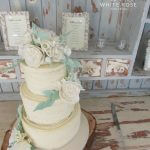 Three tier rustic wedding cake by White Rose Cake Design, Wedding Cakes in West Yorkshire