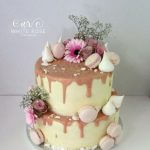 Blush Pink Drippy Wedding Cake by White Rose Cake Design, Wedding Cakes in West Yorkshire