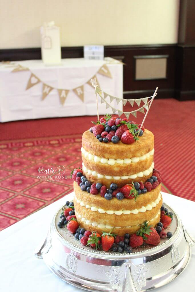 Naked Wedding Cake with Fresh Berries by White Rose Cake Design Bespoke Wedding Cake Maker in Holmfirth, Huddersfield West Yorkshire (3)