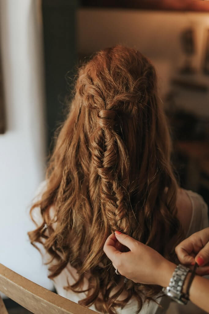 Bridal Hair Braids Game of Thrones Inspired Wedding