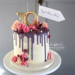 30th Drippy Birthday Cake by White Rose Cake Design (2)