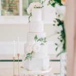 Elegant 5 tier marble wedding cake by White Rose Cake Design luxury cake maker Huddersfield West Yorkshire
