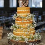 Three Tier Naked Cake with Faux Gypsophelia at The Arches, Halifax by White Rose Cake Design Cake Maker in West Yorkshire