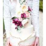 Autumnal floral cascade wedding cake by White Rose Cake Design West Yorkshire cake maker