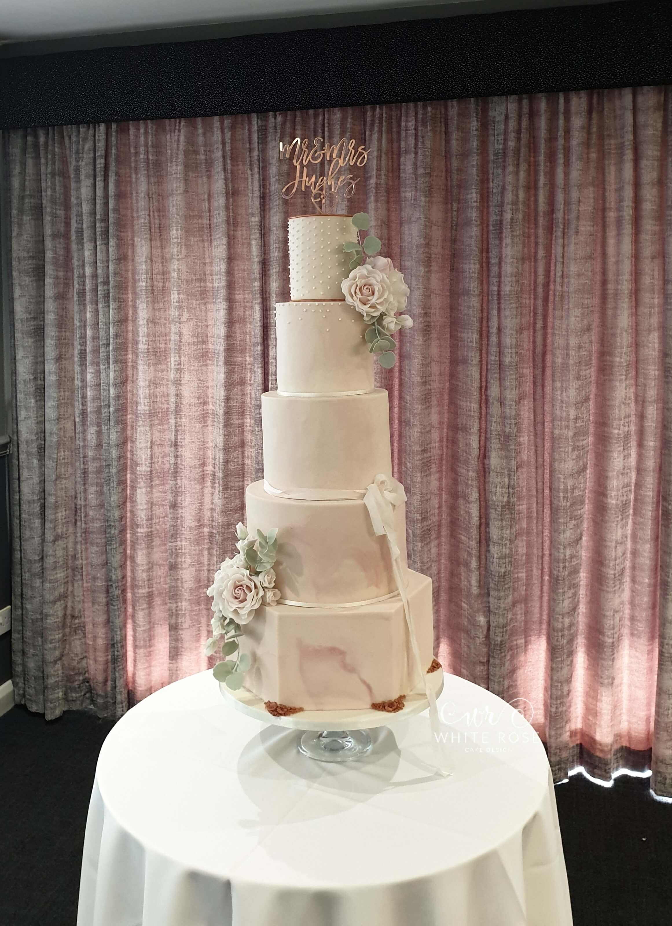 Modern Wedding Cake by White Rose Cake Design Luxury Wedding Cakes in West Yorkshire
