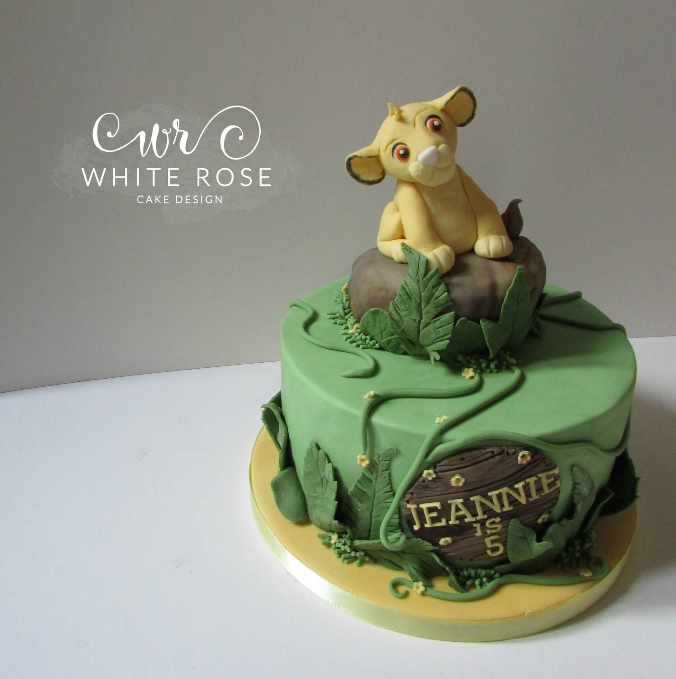 Simba Lion King Jungle Themed 5th Birthday Cake Huddersfield Cake Maker
