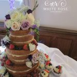 Naked Wedding Cake with Fresh Fruit and Berries by White Rose Cake Design, Wedding Cakes in West Yorkshire