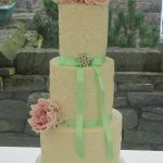 Lace and Roses Wedding Cake by White Rose Cake Design, Wedding Cakes in West Yorkshire