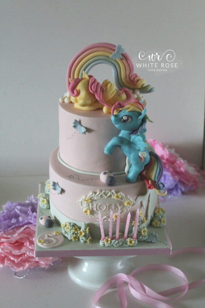 Outstanding My Little Pony Themed 5Th Birthday Cake For A Princess White Funny Birthday Cards Online Alyptdamsfinfo