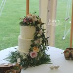 Rustic Wedding Cake with Fairytale Fresh Flowers by White Rose Cake Design Bespoke Wedding Cake Makers in Holmfirth Huddersfield West Yorkshire (4)
