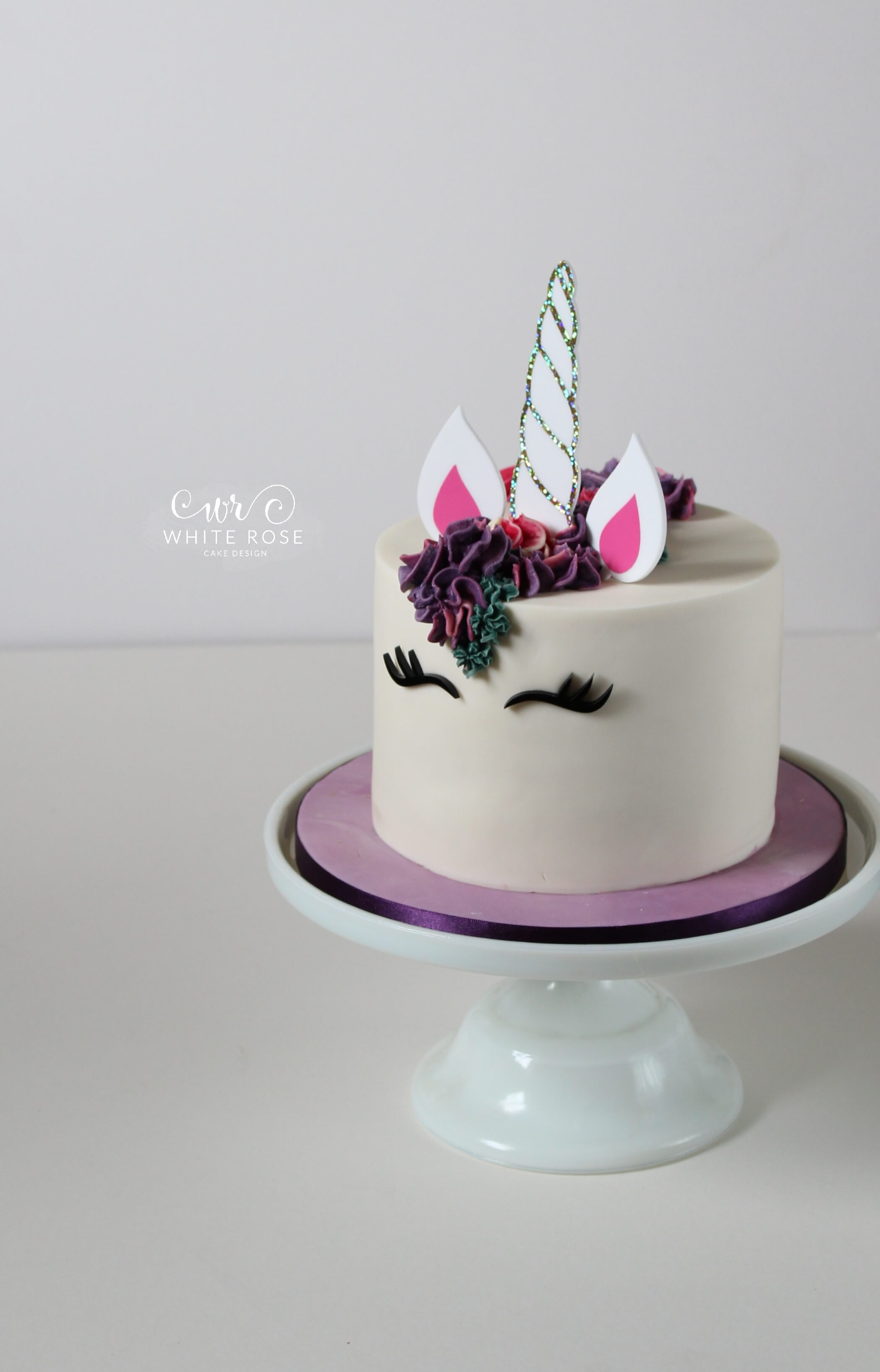 Unicorn Birthday Cake Huddersfield in Purples and Pinks by White Rose Cake Design Bespoke Cake Maker in Huddersfield Holmfirth Halifax West Yorkshire (1)