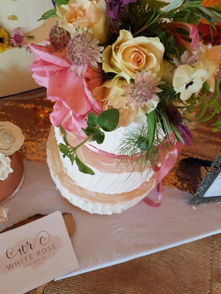 White Rose Cake Design Wedding Cakes in West Yorkshire Rustic Boho Festival Weddings Cake Maker in West Yorkshire Huddersfield Holmfirth