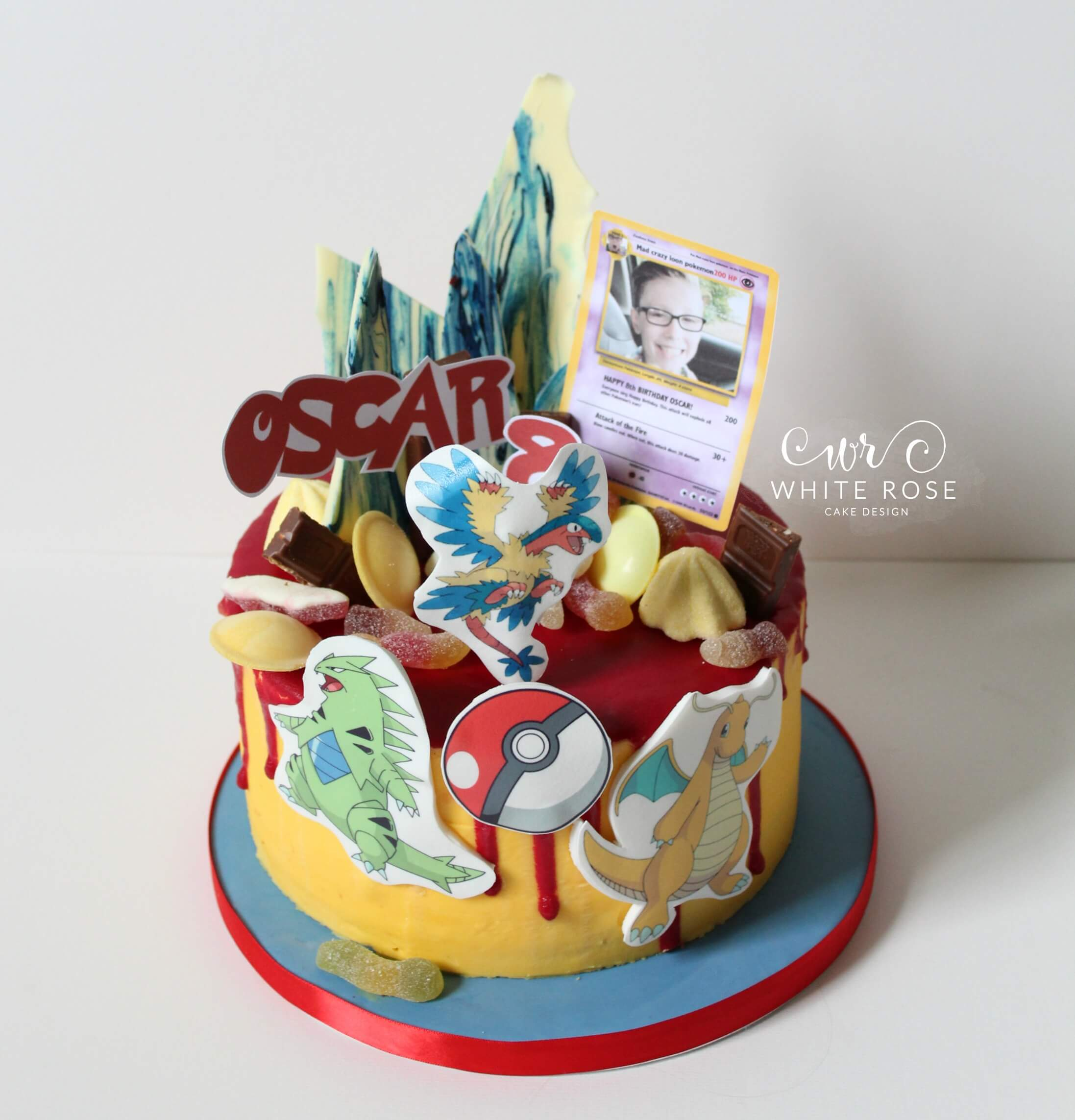 Pokemon Birthday Cake 8th Birthday White Rose Cake Design Cake Maker in Holmfirth Huddersfield West Yorkshire