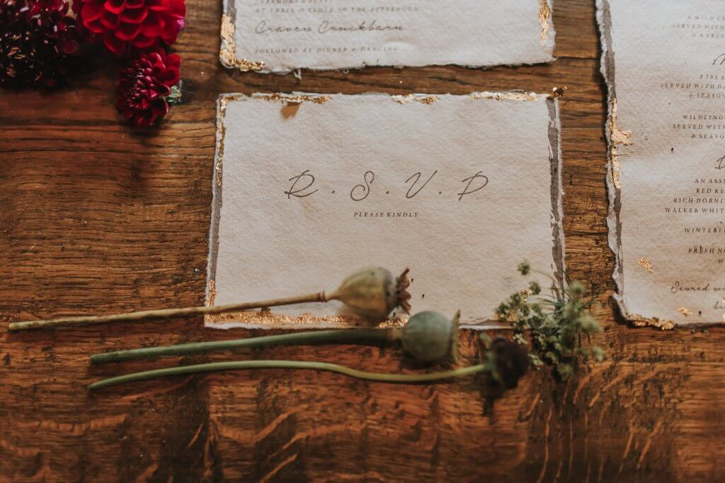 RSVP Stationery Game of Thrones Inspired Wedding