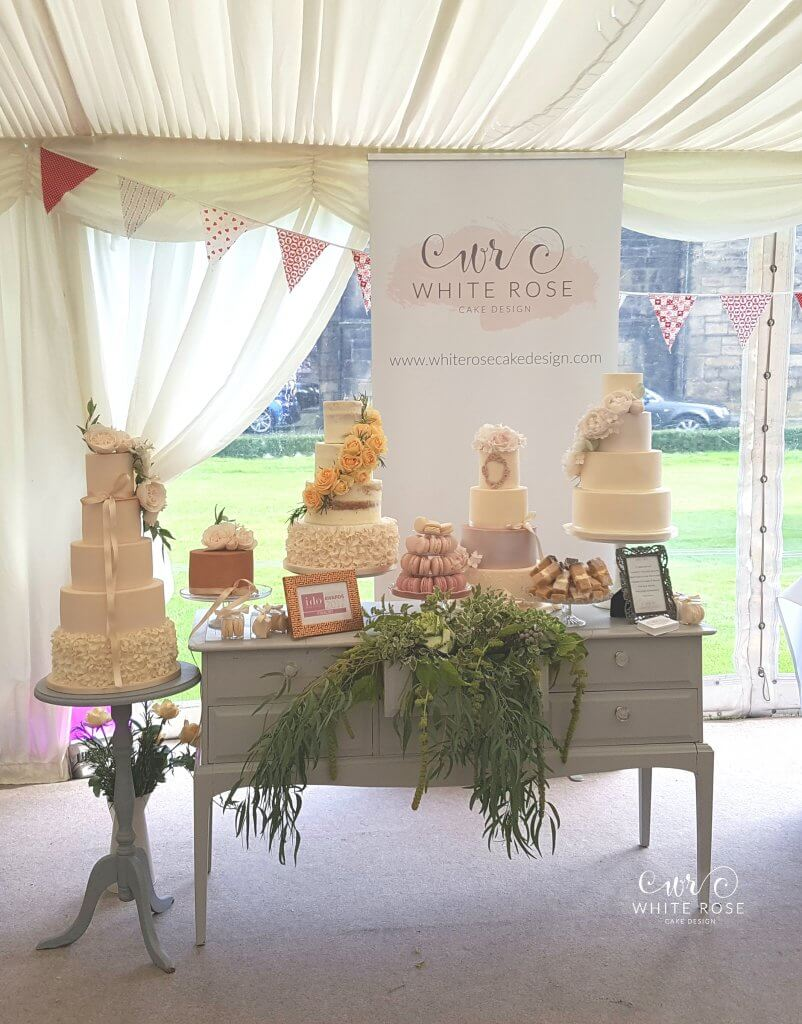 White Rose Cake Design wedding cakes at Woodsome Hall Golf Club