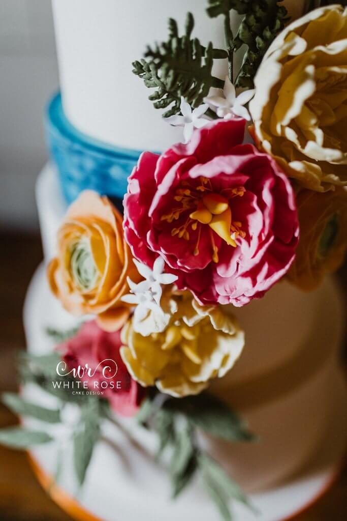 East Riddlesden Hall Wedding Cakes Photo by Caitlin + Jones Cake by White Rose Cake Design (3)