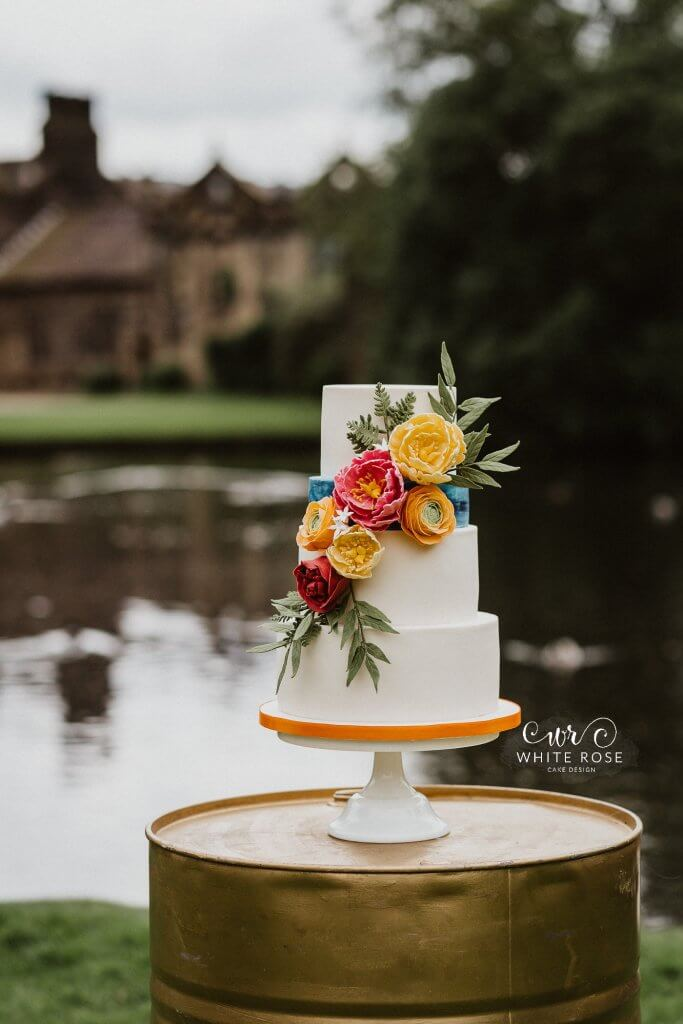 East Riddlesden Hall Wedding Cakes Photo by Caitlin + Jones Cake by White Rose Cake Design (9)
