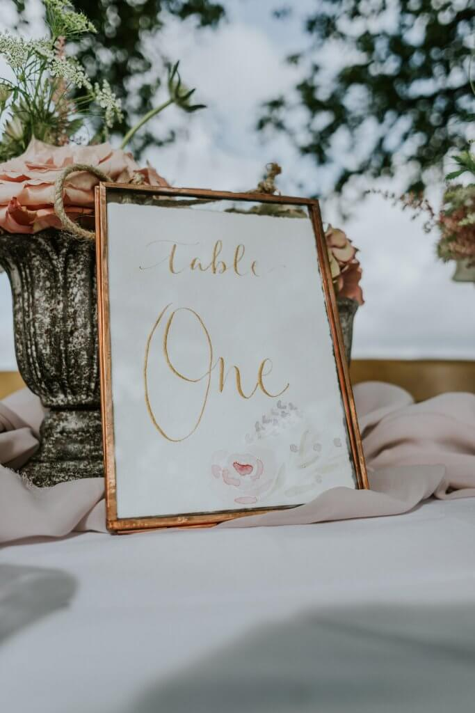 Table Numbers by Sally Jane Calligraphy