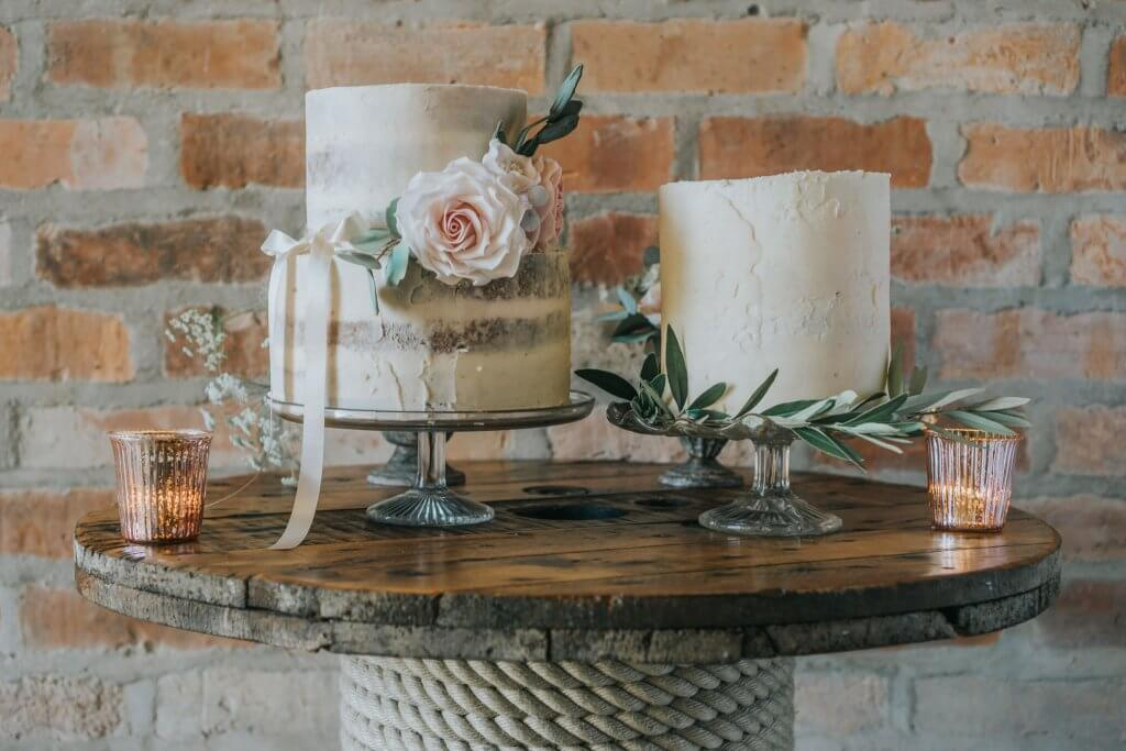Country Luxe Wedding - White Rose Cake Design West Yorkshire Cake Maker - Stewart Barker Photography Rustic Wedding Cakes
