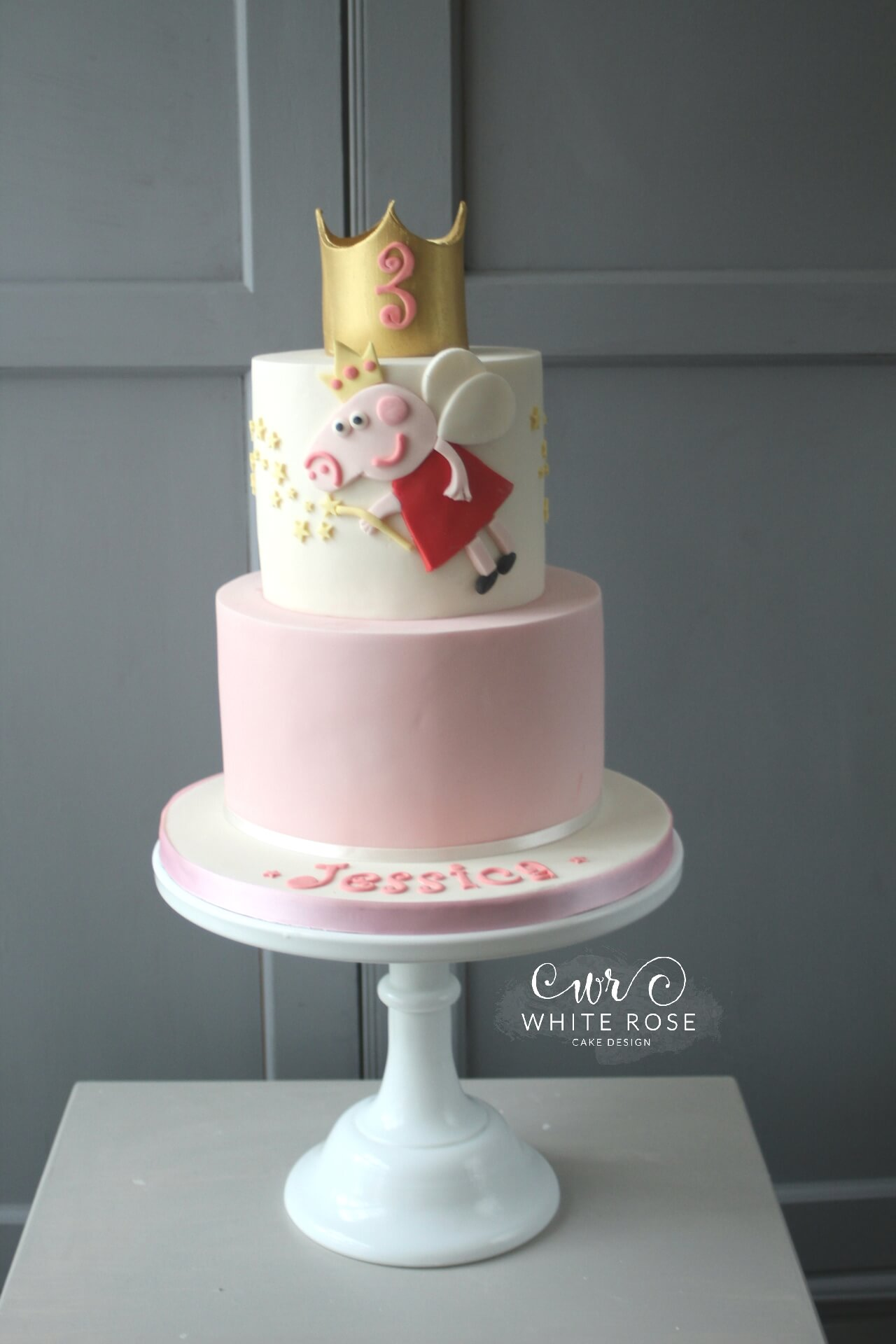 Peppa Pig 3rd Birthday Cake by White Rose Cake Design West Yorkshire Cake Maker