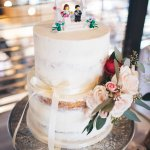Rustic Semi-Naked Wedding Cake by White Rose Cake Design in West Yorkshire