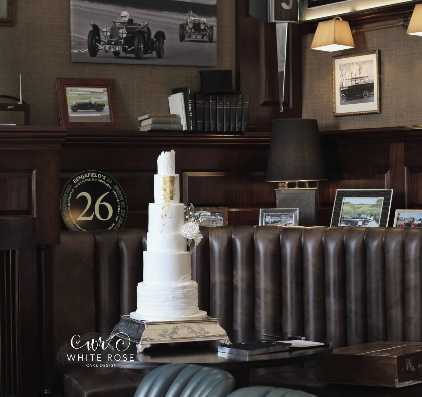 Five Tier Modern Wedding Cake at Bowcliffe Hall by White Rose Cake Design Bespoke Cake Makers in West Yorkshire