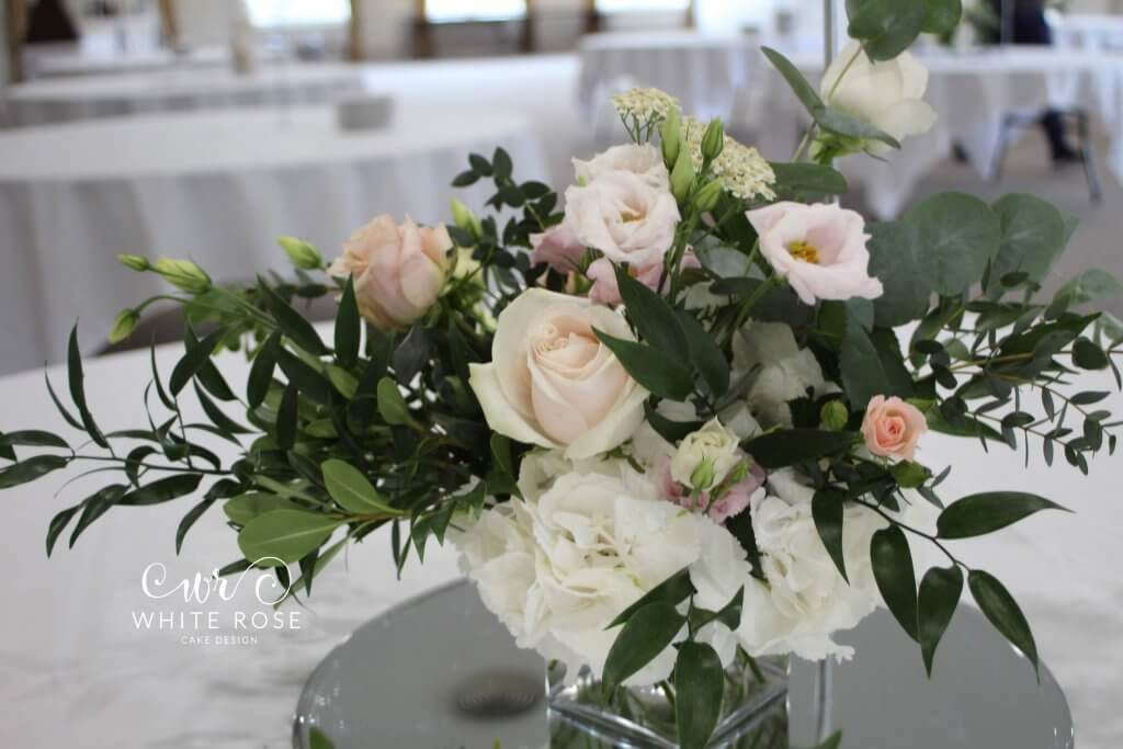 Wedding Venue Table Flowers Peach and Pink - Elegant Five Tier Wedding Cake with Peach & Nude Flowers by White Rose Cake Design Luxury Cakes West Yorkshire