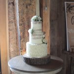 Semi-Naked Cake with Ruffles by White Rose Cake Design West Yorkshire Cake Maker